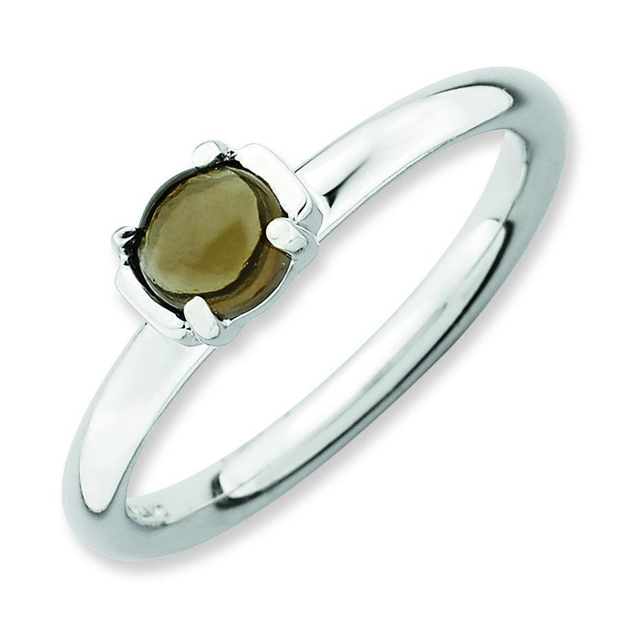 Picture of Silver Natural Smokey Quartz Stone Ring