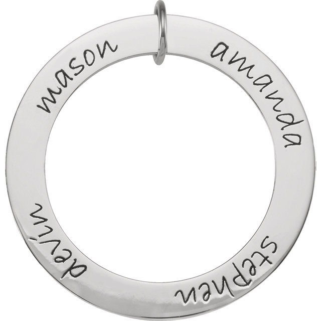 Picture of 4 Names Engravable FOREVER Loop