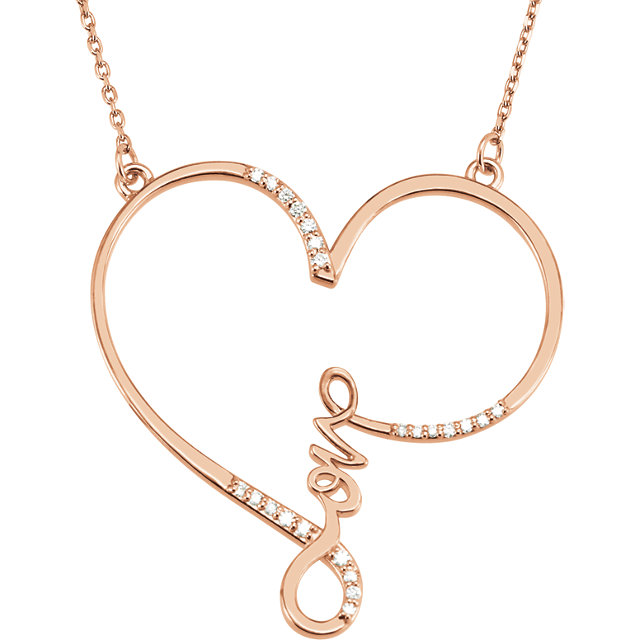 Picture of Diamond Love Heart Necklace