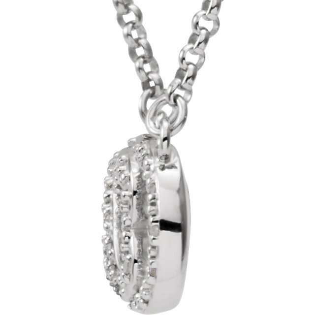 Picture of Love For Infinity Diamond Silver Necklace