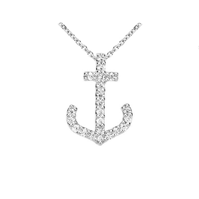 Picture of Diamond Anchor Necklace