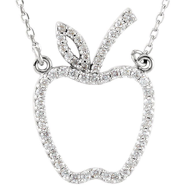 Picture of Diamond Apple Necklace