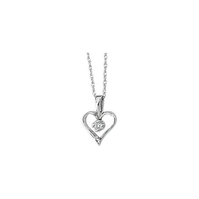 Picture of Mini Heart Diamond Necklace