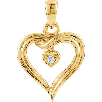 Picture of Diamond Heart Pendant