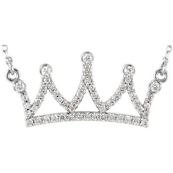 Picture of Diamond Petite Crown Necklace