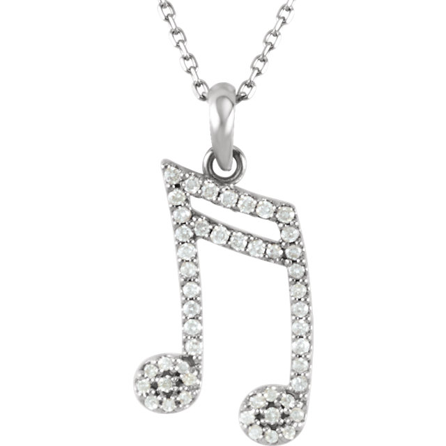 Picture of Diamond Double Sixteenth Note Necklace