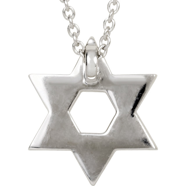 Picture of Petite Star of David Diamond Necklace