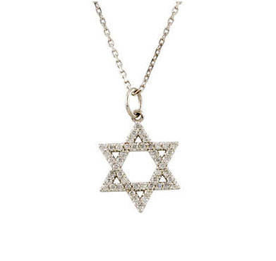 Picture of Star of David Diamond Necklace