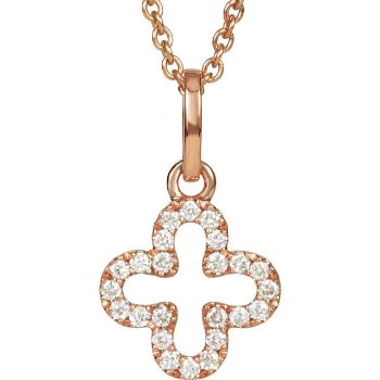 Picture of Rose Gold Petite Diamond Cross Necklace