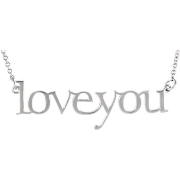 Picture of 14K Gold Love you Necklace