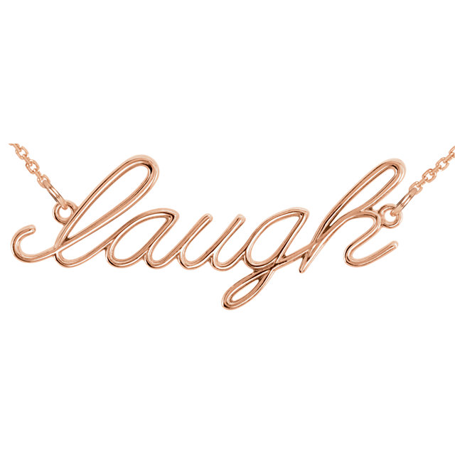 Picture of 14K Gold Laugh Necklace