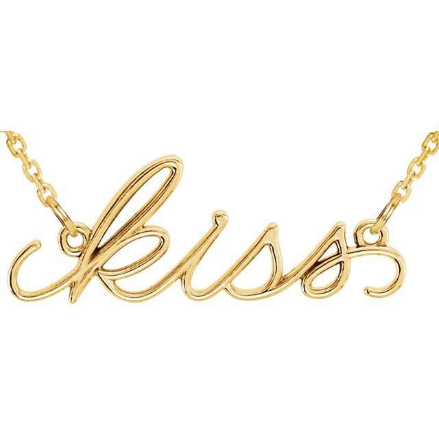 Picture of 14K Gold Kiss Necklace