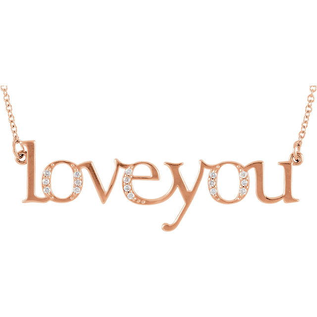 Picture of Diamond Love you Necklace