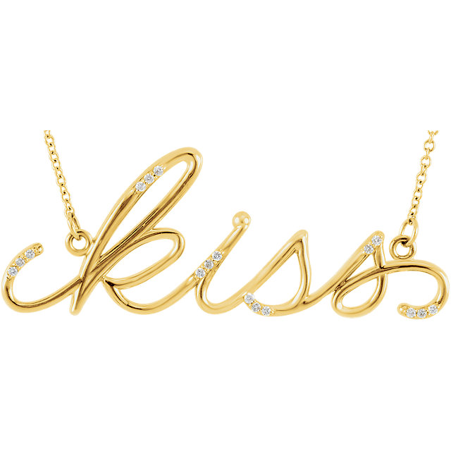 Picture of Diamond Kiss Necklace
