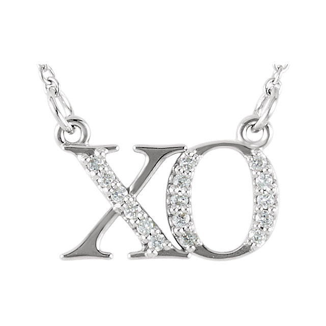 Picture of Diamond XO Necklace