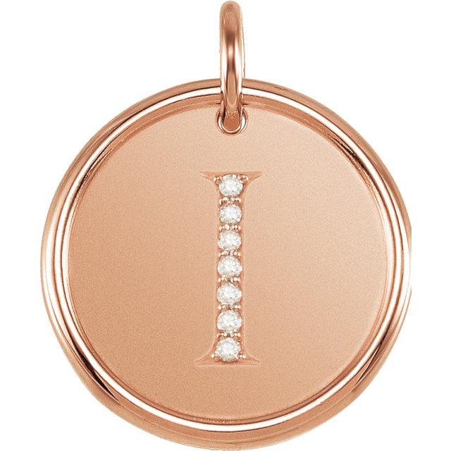 Picture of Initial I, Roxy Diamond Pendant