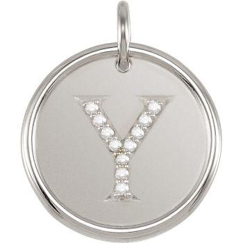 Picture of Initial Y, Roxy Diamond Pendant