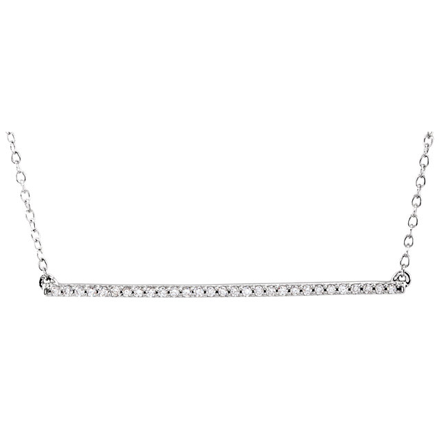 Picture of 14K Gold Diamond Straight Bar Necklace