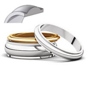 Picture for category Half Round Edge Wedding Bands