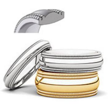 Picture for category Double Milgrain Comfort Fit Wedding Bands