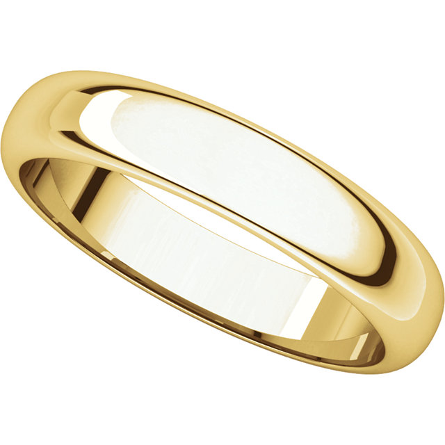 Picture of 14K Gold 4 mm Half Round Band