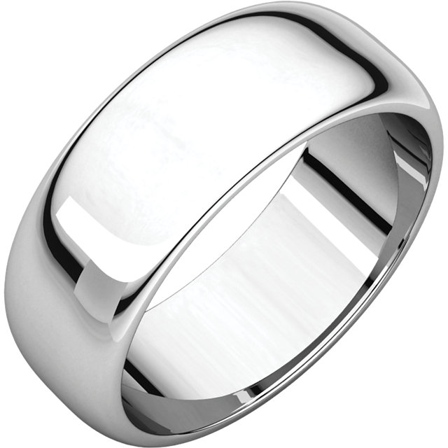 Picture of 14K Gold 7 mm Half Round Band