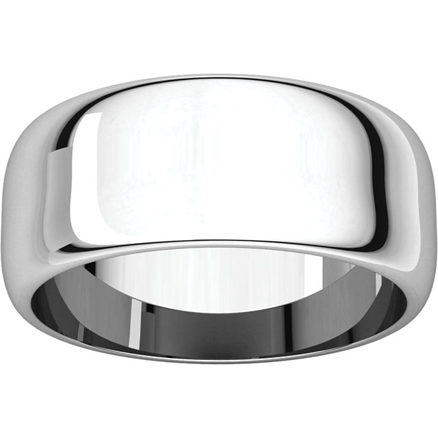 Picture of 14K Gold 8 mm Half Round Band