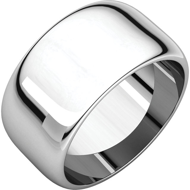 Picture of 14K Gold 10 mm Half Round Band