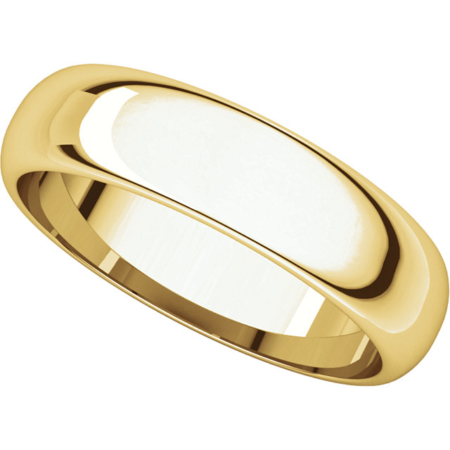 Picture of 14K Gold 5 mm Half Round Band