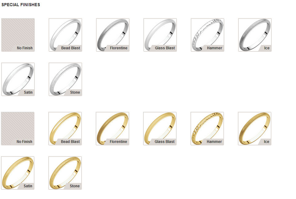 Picture of 14K Gold 2 mm Half Round Light Band
