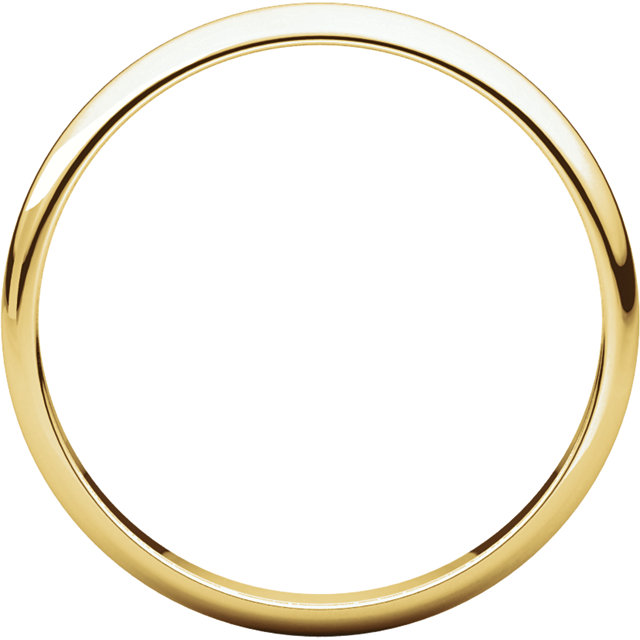 Picture of 14K Gold 2.5 mm Half Round Light Band