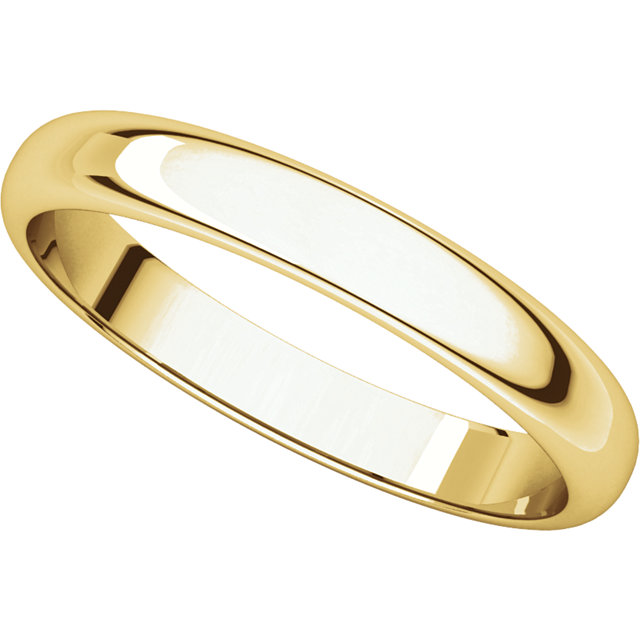 Picture of 14K Gold 4 mm Half Round Light Band