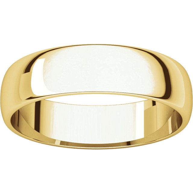 Picture of 14K Gold 5 mm Half Round Light Band