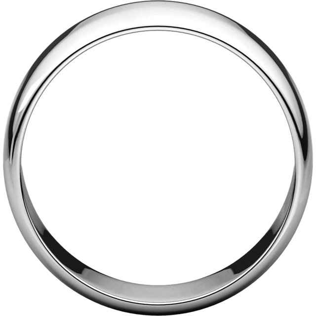 Picture of 14K Gold 8 mm Half Round Light Band