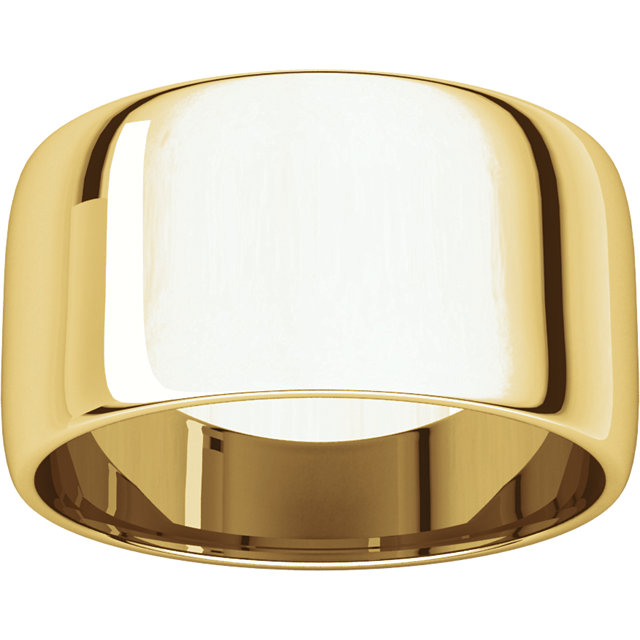 Picture of 14K Gold 10 mm Half Round Light Band