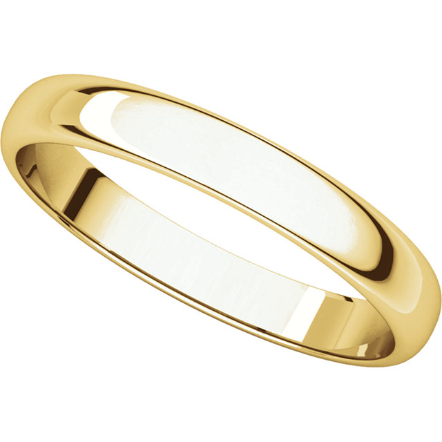 Picture of 14K Gold 3 mm Half Round Light Band