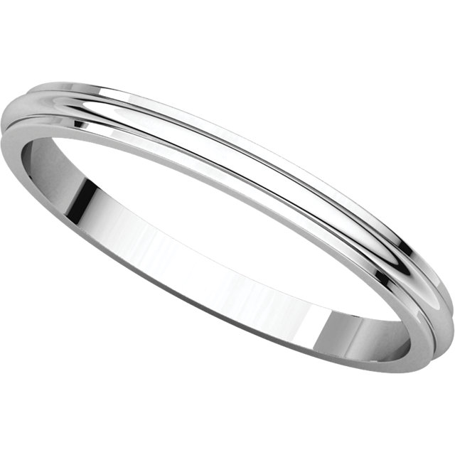 Picture of 14K Gold 2 mm Half Round Edge Band