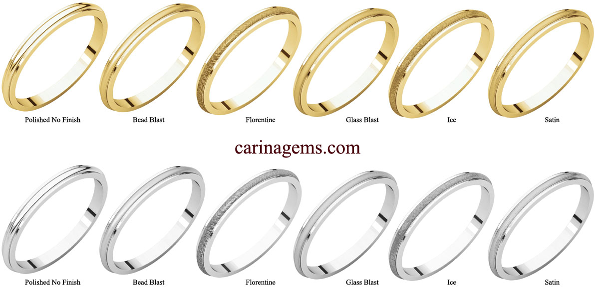 Picture of 14K Gold 2.5 mm Half Round Edge Band