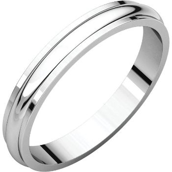 Picture of 14K Gold 3 mm Half Round Edge Band
