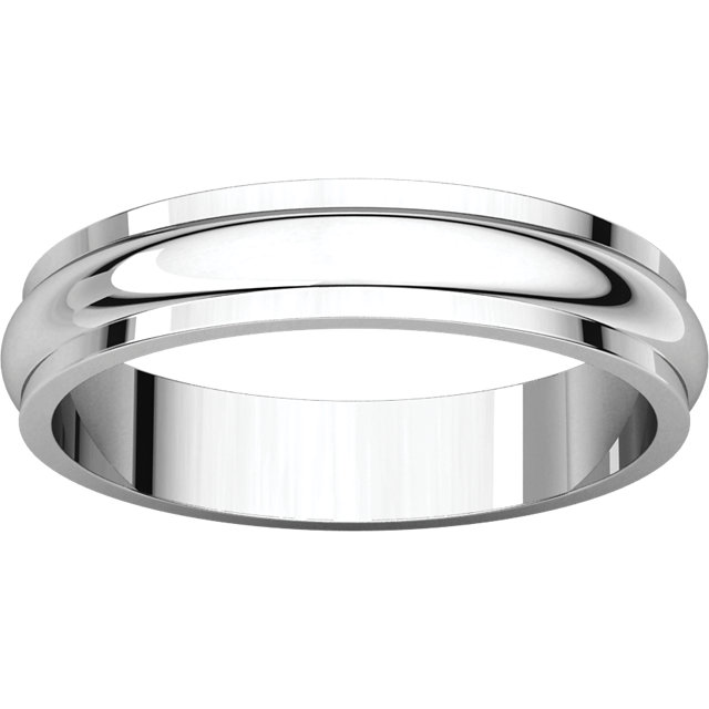 Picture of 14K Gold 4 mm Half Round Edge Band