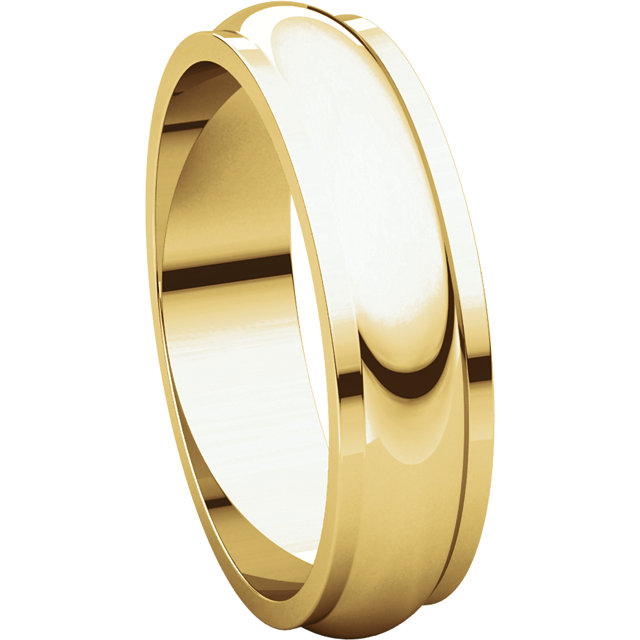 Picture of 14K Gold 5 mm Half Round Edge Band