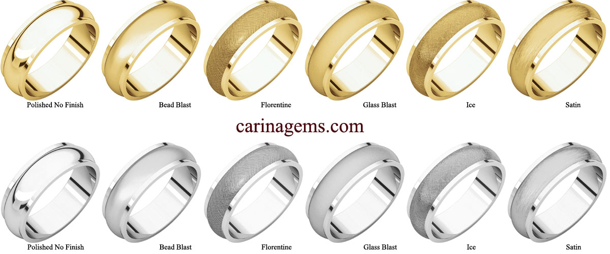 Picture of 14K Gold 6 mm Half Round Edge Band