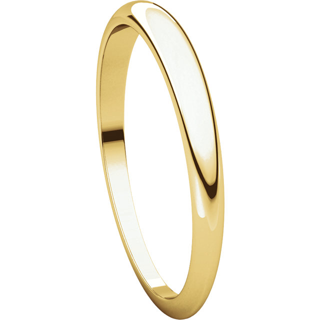 Picture of 14K 2.5 mm Half Round Tapered Band