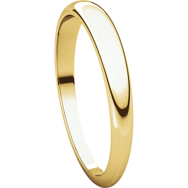 Picture of 14K 3 mm Half Round Tapered Band