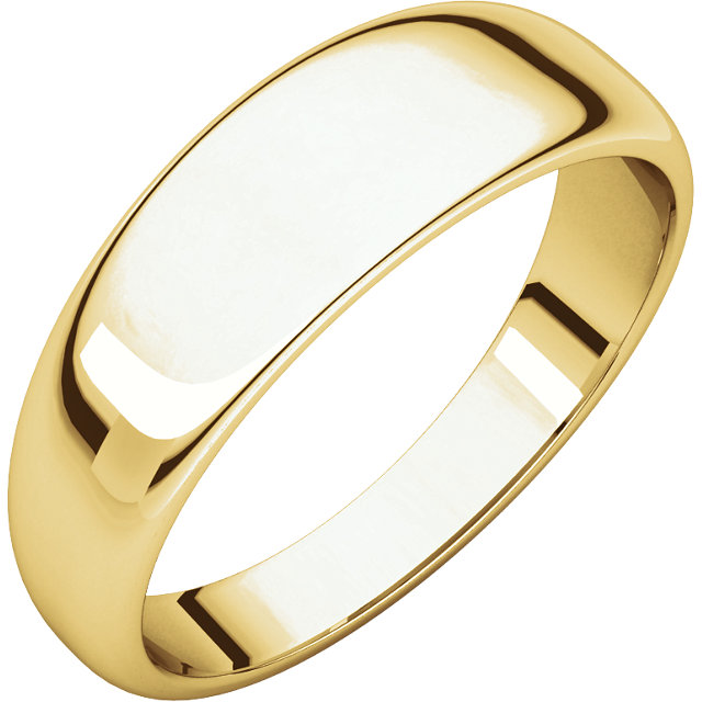 Picture of 14K 6 mm Half Round Tapered Band
