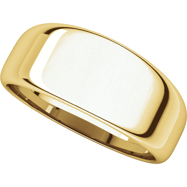 Picture of 14K 8 mm Half Round Tapered Band