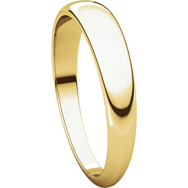 Picture of 14K 4 mm Half Round Tapered Band