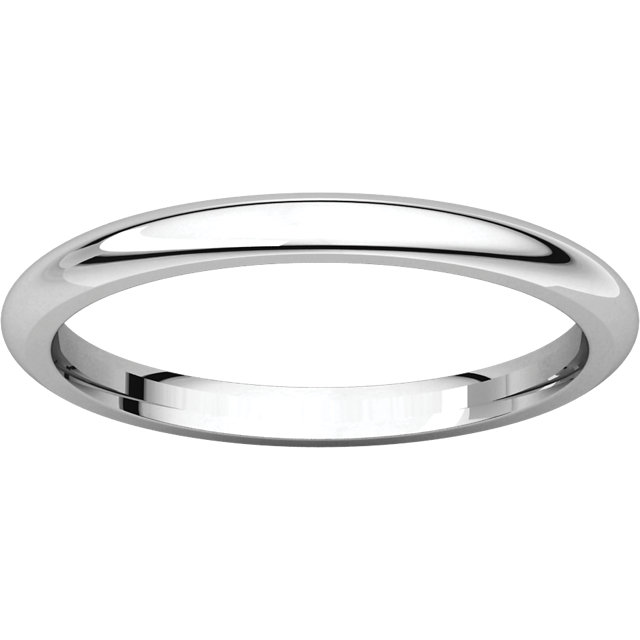Picture of 14K Gold 2 mm Comfort Fit Wedding Band