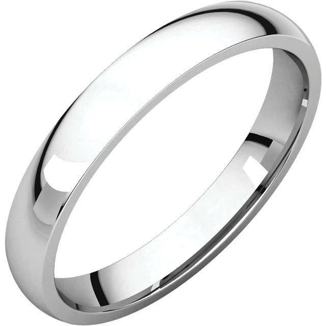 Picture of 14K Gold 3 mm Comfort Fit Light Wedding Band