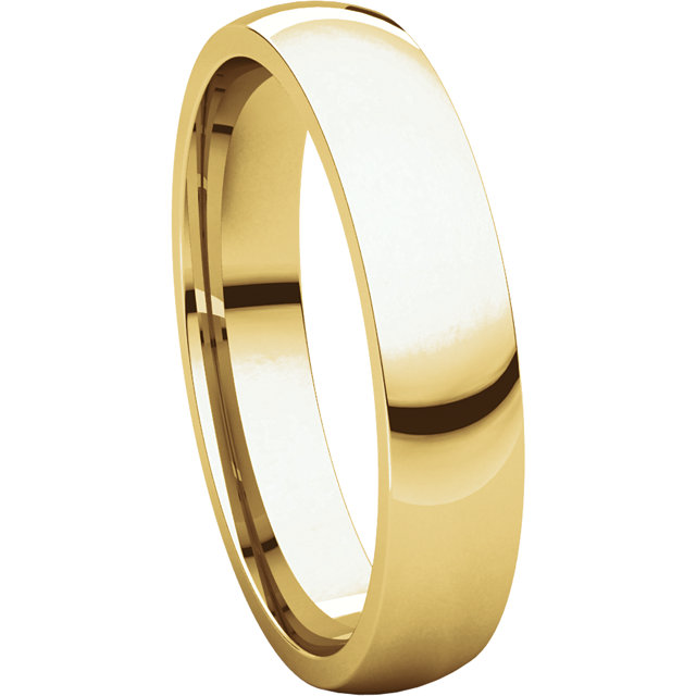 Picture of 14K Gold 4 mm Comfort Fit Light Wedding Band
